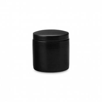 Банка для сыпучих продуктов, объем: 600 мл, материал: фарфор, цвет: черный