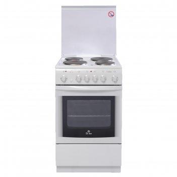 Плита электрическая de luxe 5004.10э кр, 4 конф., 43 л, эмаль, гриль, бела