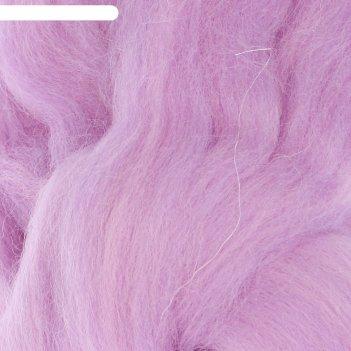 Шерсть для валяния 100% полутонкая шерсть 50гр (389 св. фиалка)