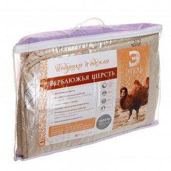 Одеяло этель верблюжья шерсть 200*220 см, тик, 300 гр/м2