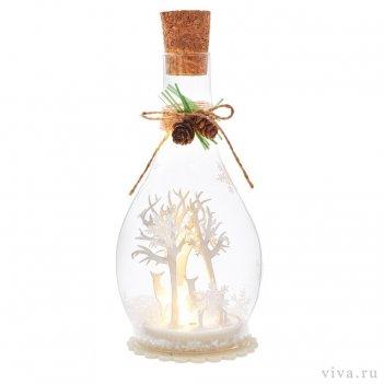Композиция с подсветкой  в бутыле 5