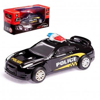 Машина металлическая полиция, масштаб 1:50 , инерция, микс