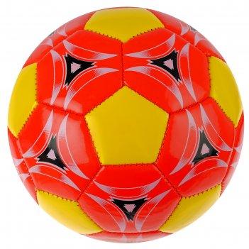 Мяч футбольный, 2 подслоя, глянец pvc, машинная сшивка, размер 2, цвета ми