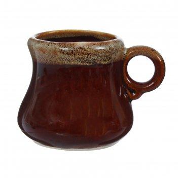 Чашка кофейная 0,1л арго коричневая
