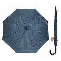 Зонт полуавтоматический «полоска», 8 спиц, r = 56 см, цвет синий