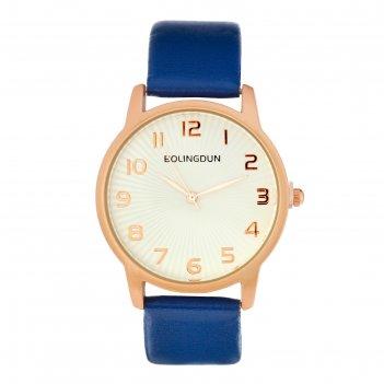 Часы наручные женские бернини, циферблат d=3.6 см, индиго