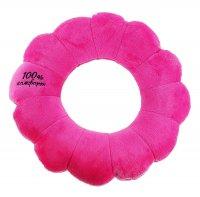 Мягкая игрушка - антистресс подголовник круг розовый