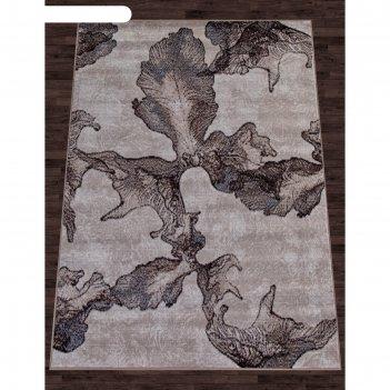 Прямоугольный ковёр sierra d711, 60x110 см, цвет beige-brown