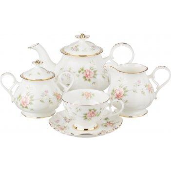 Чайный сервиз на 6 персон екатерина 15 пр. 850/230 мл. (кор=4наб.)