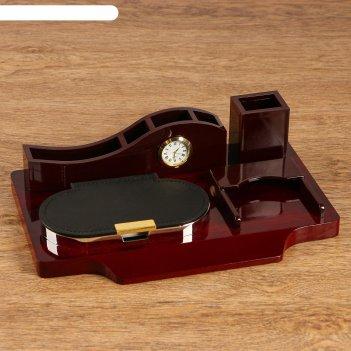 Набор настольный 5в1 (блок д/бумаг, карандашница, визитница, органайзер с