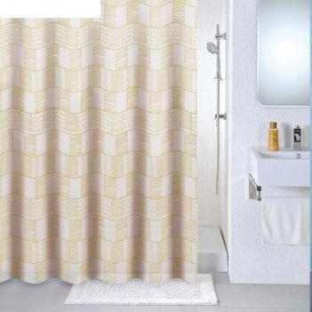 Штора для ванной комнаты 180х180 см brick wall
