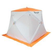 Палатка призма 200 (2-сл) стандарт композит, бело-оранжевая