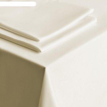 Комплект скатертей «густав», размер 145х195 см, цвет сливочный