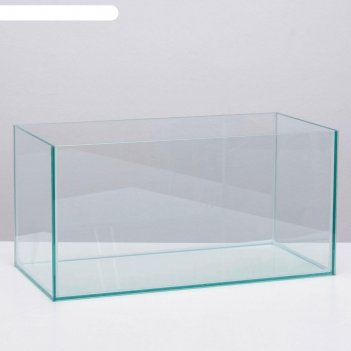 Прямоугольный акваскейп прозрачный шов , 60х30х30 см, без ребер жесткости,