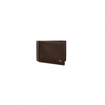 Зажим для денег 11.2x0.5x8.3 см, цвет коричневый