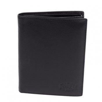 Бумажник klondike claim, натуральная кожа в черном цвете, 10,5 х 1,5 х 13