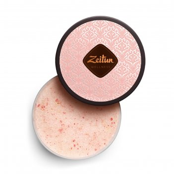 Смягчающий скраб для тела zeitun «ритуал нежности» с дамасской розой и мас