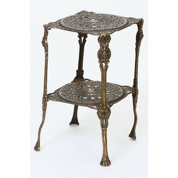 Столик, 2 столешницы, квадратные, 28х44 см