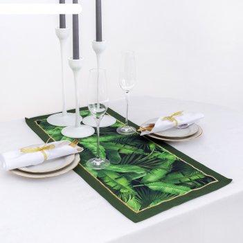 Дорожка на стол этель тропики 30х70 см, 100% хл, саржа 190 гр/м2