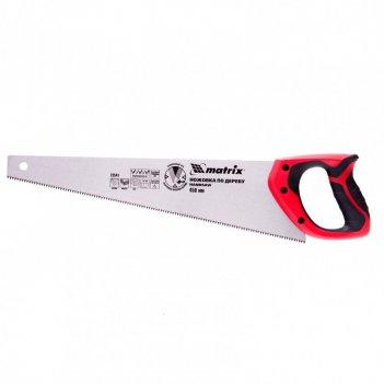 Ножовка по дереву, 450 мм, 7-8 tpi, зуб-3d, каленый зуб, двухкомпонентная