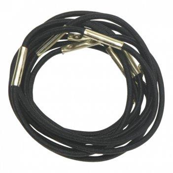 Резинки для волос черные, midi (10 шт)