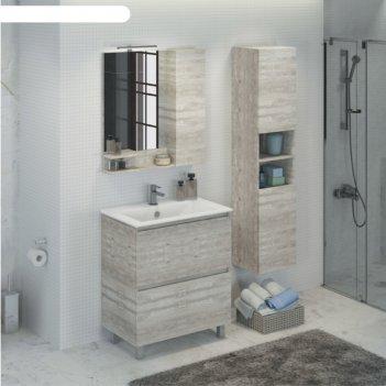 Зеркало-шкаф comforty «верона-75» дуб белый