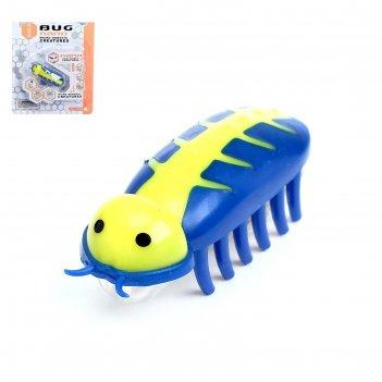 Жучок робот-жук, работает от батареек, микс