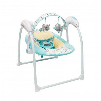 Электронные качели amarobaby swinging baby, цвет turquoise