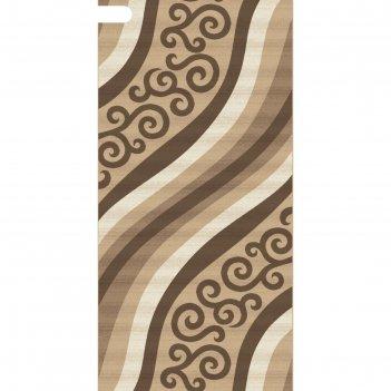 Ковровая дорожка mega carving d297, 100x2500 см, цвет beige