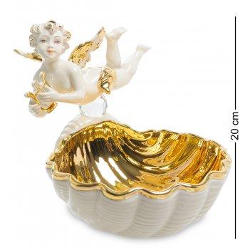 Sv- 69 статуэтка ракушка с ангелом (sabadin vittorio)