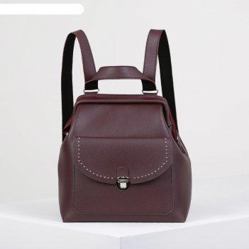 Рюкзак- сумка 1413.1tz, 28*14*29, отд на молнии, н/карман, бордовый