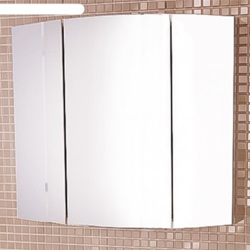 Зеркало-шкаф лаура-75-3 белый