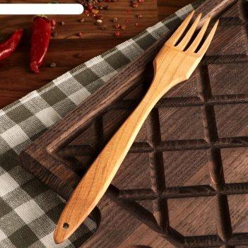 вилки с деревянной ручкой