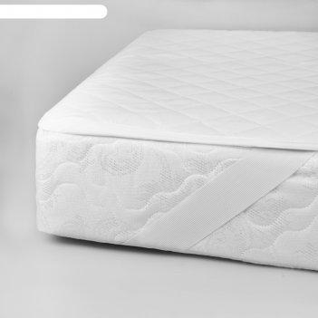 Наматрасник на резинках «космо», размер 200 x 200 см, цвет белый