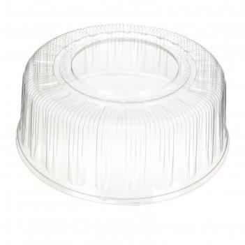 Крышка к контейнеру т-289к, круглая, прозрачная, 28,3х28,3х11 см / 2500 мл