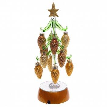 Изделие декоративное с подсветкой ёлочка, l10 w10 h25 см, (3хаа не прилаг.