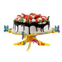 Подставка для пироженых веселого дня рождения