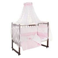 Комплект в кроватку абэль (7 предметов), цвет розовый 1126