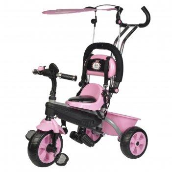 Велосипед трёхколесный jack&lin 2018, колеса 10/8, цвет розовый