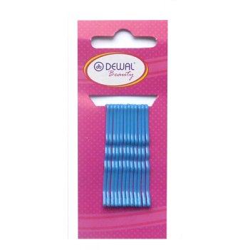 Невидимки dewal beauty синие 50 мм (12 шт) волна