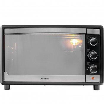 Мини-печь avex tr 350 mbcl, 1600 вт, 35 л, 100-250°с, противень для пиццы,