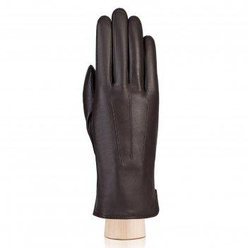 Перчатки женские, размер 6.5, цвет тёмно-коричневый
