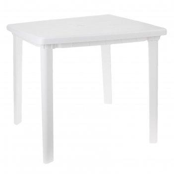 Стол квадратный, размер 80 х 80 х 74 см, цвет белый