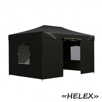 Тент садовый helex 4342 3x4,5х3м полиэстер черный