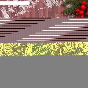 Украшение новогоднее снежинка зимний лес три шишки и веточки 17*17 см
