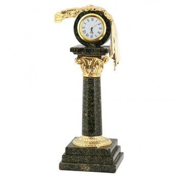 Часы капитель камень змеевик