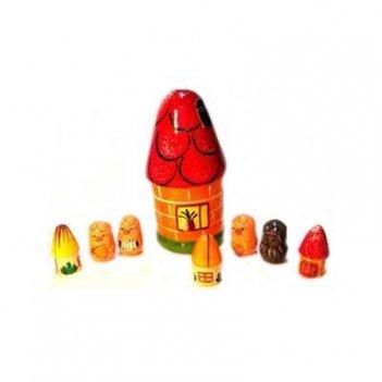 Развивающая игрушка «пальчиковый театр в домике «три поросенка»