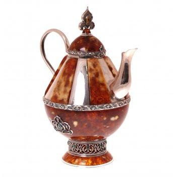 """Чайник """"восточная сказка"""" из янтаря"""