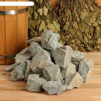 Камень для бани порфирит колотый, коробка 20 кг
