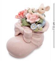 Cms-62/ 8 статуэтка мышонок в цветочном башмаке (pavone)